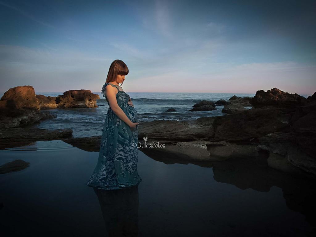 Embarazada en la playa2